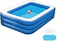 10 Ft Family Swimming Pool Garden Outdoor Summer Inflatable Kids Adults Pools