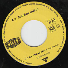 "7"" 45 TOURS FRANCE JUKEBOX LOS MACHUCAMBOS ""La Cucaracha +1"" 1961 LATIN"