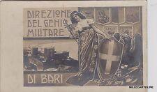 # militari WWI - DIREZIONE DEL GENIO MILITARE DI BARI - fotocartolina