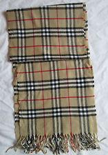 Superbe   grande Echarpe BURBERRY 100% cachemire TBEG  vintage scarf ---