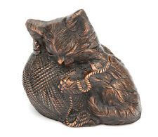 Kitty Ball Pet Cremation Ashes Urn Antique Copper