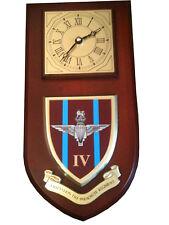 4bn Parachute Regiment Military Shield Wall Plaque Clock