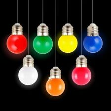 2pcs Coloured GLS Light Bulb Lamp 1W ES E27 BC Party Outdoor Golfball 5 colors
