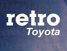 RETRO TOYOTA Vinyl Classic/Vintage Car/Van/Window/Bumper Sticker/Decal
