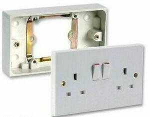 Single to Double Plug Socket Converter Adaptor 1 Gang to 2 Gang Switched Mains