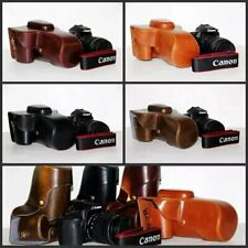 New leather case bag+shoulder strap+hand grip for Canon EOS 90D DSLR camera