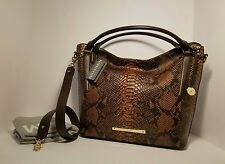 Brahmin NWT Norah Tortoise Seville Wrist Hobo Shoulder Leather Handbag