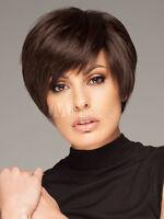 100% Human Hair! New Short Dark Brown Women's Wigs Fashion Wig