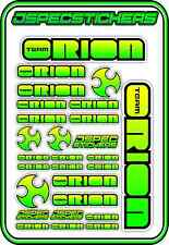 TEAM ORION RC STICKERS ESC MOTOR BRUSHLESS VORTEX CAR BUGGY JSPEC GREEN YELLOW B