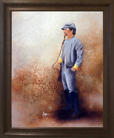 Civil War Soldier Blue Union America With Sword Wall Brown Rust Framed Picture