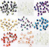100/200Pcs Square Glass Crystal Findings Loose Spacer Beads Jewelry Cube 2mm