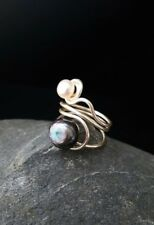 HANDMADE! Genuine Pearl Ring 50020