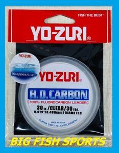 YO-ZURI H.D. CARBON FLUOROCARBON Leader 30lb-30yd NEW! #R891-CL FREE USA SHIP!