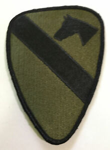 """1st CAVALRY DIVISION PATCH -US ARMY (Subdued)- 5""""x 3 1/2"""" New"""