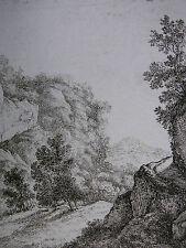 FRANZ RECHBERGER ´FELSIGE LANDSCHAFT MIT WEG; MOUNTAINOUS LANDSCAPE´ N.6, ~1795