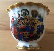Porzellan Wappentasse GRAF V. EICKSTEDT-PETERSWALDT, Preußen, Pommern, Adel