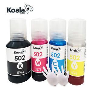 Refill Ink Bottle for Epson EcoTank 502 ET-4760 ET-2760 ET-2750 ET-3760 Non-OEM