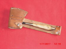 Vintage German Hunting / Camping Axe in Leather Sheath, Marked  DGM & GERMANY.