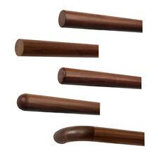 Nussbaum Handlauf Geländer Treppe Stange rund Rohr Holz ohne Halter dunkel braun