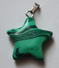 Malachite Star Shaped Pendant. 22mm by 22mm. (B).