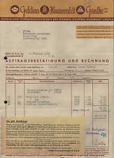BERLIN N. 65, Rechnung 1937, Schokolade Goldina-Hauswaldt-Gaedke GmbH