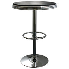 AmeriHome SFTABLE Soda Fountain Style Bar Table - Black