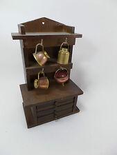 Buffet 6 Tiroirs Miniature Bois ,sous bock inclus ,Henri 2 ,bahut ,mado