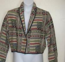 New Identity misses sz M Americana stars & stripes Tapestry short Jacket j113