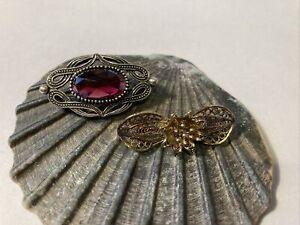 Wunderschöne alte Brosche 835 Silber Anstecknadel Silver