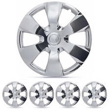 4 Set of 16 Inch Hubcaps Chrome Original Replica Wheel Cover Caps ABS Plastic