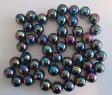 """50 Rainbow Highly Magnetic Hematite 1"""" round Spheres, Also Known as Zingers"""