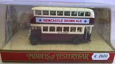 MATCHBOX 1:76 AUTO DIE CAST LEYLAND TITAN TD1 BUS 1930 BORDEAUX CREMA ART Y5-C