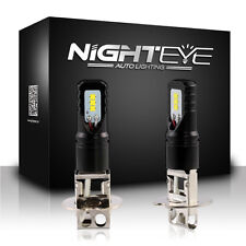 NIGHTEYE H3 LED Fog Light Bulbs Driving Daytime Lamp DRL White 160W 1600LM/Set