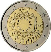Rolle 25 x 2 Euro Gedenkmünze Malta 2015 30 Jahre Europaflagge