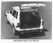 1978 Honda Civic CVCC Station Wagon Press Photo 0008