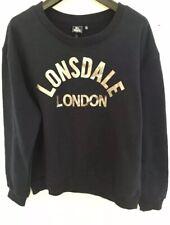 Lonsdale Crew Neck Sweatshirt Navy Blue Silver Size 12