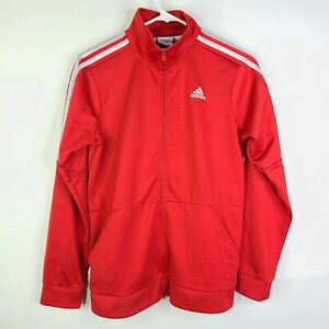 Adidas Red Full Zip Training Track Jacket Youth Size Size L 14-16