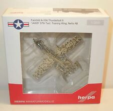 "Herpa 1:200 (557054) USAF Fairchild A-10A Thunderbolt II ""JAWS 57th Tact."