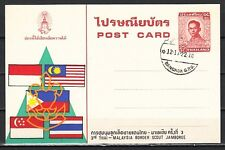 Thailand 1979 Agency Issued Postal Card for Thai-Malaysia Jamboree. First Day.
