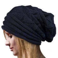 Women Beanie Knit Crochet Ski Hat Oversized Baggy Long Slouchy Cap Winter Warm