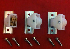 "Roman Shade Cord Lock & 2 Pulleys with 3/4"" Self Drill Screws - Window Blind"