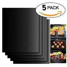 5er Set Antihaft Dauer-BBQ-Grillmatte Grillunterlage Backofenfolie Grillfolie DE