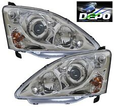 2002-2005 Civic Si EP3 JDM Style Chrome Projectors Head Lights Pair DEPO