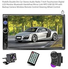 New listing Podofo Double Din Car Stereo Audio Radio 7 Inch Touchscreen Digital Lcd Monitor