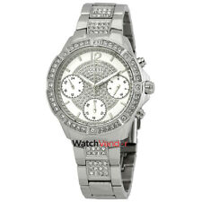 Guess Crystal Silver Dial Ladies Watch W1071L1