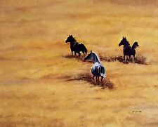 "Original Oil Painting By Artist- Horses At Play  - 24"" X 30"" - $500"
