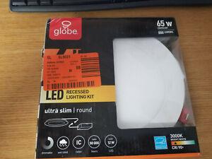 "Globe Electric Designer Ultra Slim 6"" White Integrated LED Recessed Light Kit"