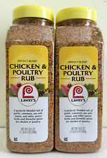 Lawry's Perfect Blend Chicken & Poultry Rub Seasoning 2X 24.5 oz