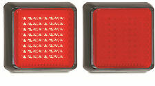 TRAILER/TRUCK STOP/TAIL X 2 LAMPS MULTI VOLT 125 SERIES RED LED AUTOLAMPS