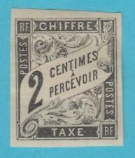 FRENCH COLONIES J2 POSTAGE DUE  MINT NEVER HINGED OG * NO FAULTS VERY FINE !